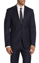 Calvin Klein Solid Two Button Slim Fit Wool Blend Sport Coat