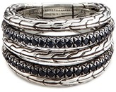 John Hardy Sapphire silver five row ring