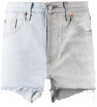 Levi's 501 Two-Tone Denim Shorts