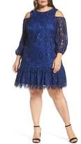 Eliza J Plus Size Women's Lace Cold Shoulder Dress