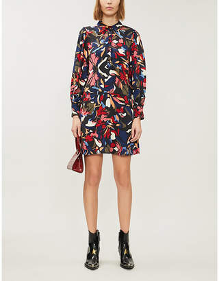 BA&SH Catty crepe mini shirt dress