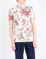 Mcq Alexander Mcqueen Floral-print Cotton-jersey T-shirt