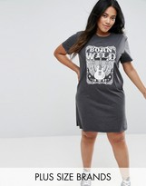 Brave Soul Plus Tour T-Shirt Dress