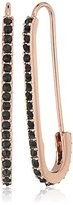 Rebecca Minkoff Pave Safety Pin Rose Gold Earrings