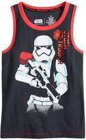 """Star Wars A Collection For Kohls Boys 4-7x Star Wars a Collection for Kohl's """"Storm Trooper"""" Tank"""