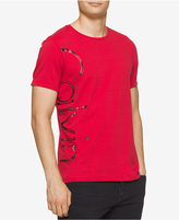 Calvin Klein Jeans Men's Distressed Foil Graphic-Print T-Shirt