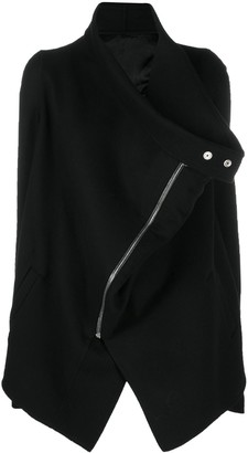 Rick Owens Asymmetric Zipped Coat