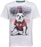 Firetrap Junior Boys Bulldog Footy Hero T-Shirt Bright White