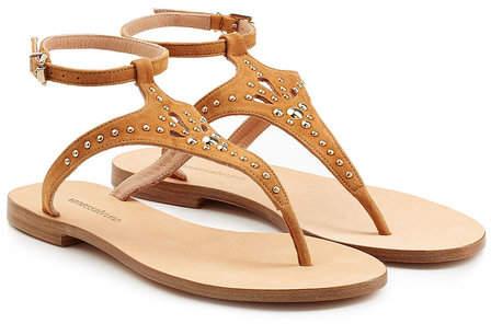 Vanessa Bruno Embellished Suede Sandals