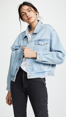 A Gold E Agolde Charli Oversized Denim Jacket