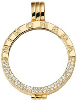 Mi Moneda gold-plated Deluxe carrier pendant - large