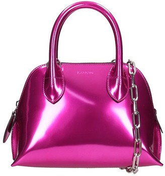 Lanvin Mini Bugatti Hand Bag In Fuxia Leather