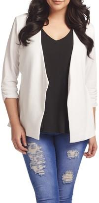 Tart Olga Ruched 3/4 Sleeve Blazer (Plus Size)