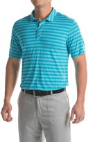 Puma Striped Crest Polo Shirt - Short Sleeve (For Men)