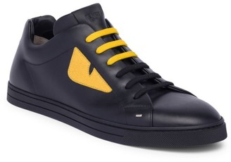Fendi Monster Leather Sneakers