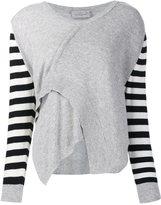Preen by Thornton Bregazzi striped sleeve jumper