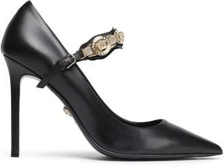 Versace Embellished Leather Pumps