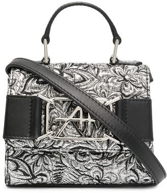 Alberta Ferretti Metallic Floral Mini Bag