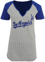 Majestic Women's Los Angeles Dodgers From The Stretch Pinstripe T-Shirt