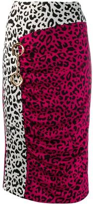 Class Roberto Cavalli Leopard Print Pencil Skirt