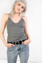 Glamorous Silver Cami Top