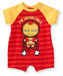 Nannette Baby Boys' Red Iron Man Romper