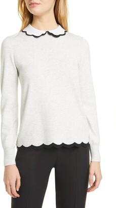 Ted Baker Lheo Scallop Detail Layered Sweater
