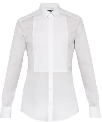Dolce & Gabbana Cotton Poplin Formal Shirt - Mens - White