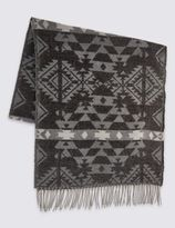 Marks and Spencer Geometric Blanket Scarf
