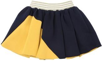 Raspberry Plum Double Jersey Skirt W/ Lurex Detail