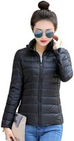 YMING Women's Packable Ultra Light Weight Short Down Jacket L