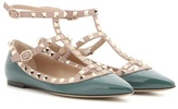 Valentino Rockstud Patent Leather Ballerinas