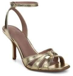 Diane von Furstenberg Felicity Gold Sandals