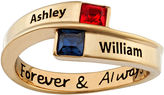 FINE JEWELRY Personalized Bypass Birthstone Engraved Ring