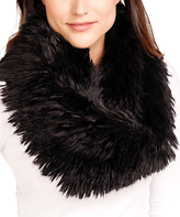 Black Llama Faux Fur Infinity Scarf