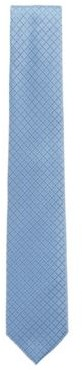 HUGO BOSS Patterned Tie In Pure Silk With Water Repellency - Light Blue