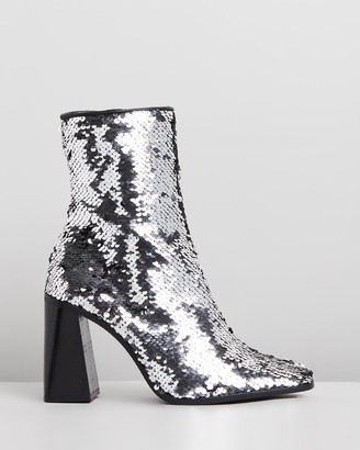 Siren Women's Silver Heeled Boots - Belmar - Size One Size, 38 at The Iconic