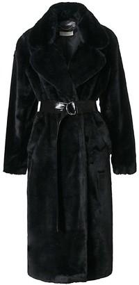 Aggi Kylie Warm Black Fur Coat