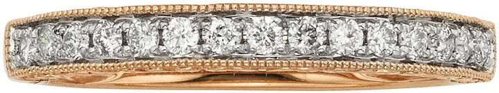 JCPenney MODERN BRIDE 1/4 CT. T.W. Certified Diamond 14K Rose Gold Wedding Band