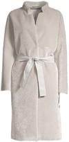 Herno Metallic Faux-Fur Coat