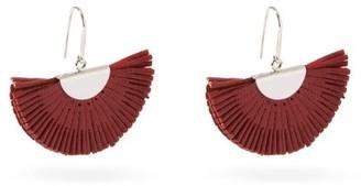 Isabel Marant Fan Leather Earrings - Red