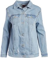 Boom Boom Jeans Medium Stone Studded Oversize Denim Jacket