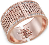 Thalia Sodi Rose Gold-Tone Crystal Hinged Cuff Bracelet, Only at Macy's