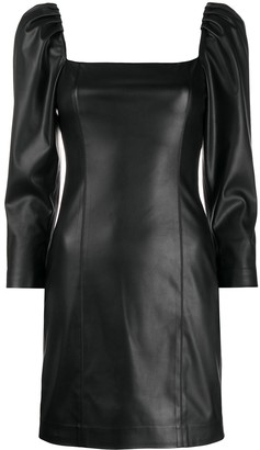 Alice + Olivia Square Neck Ruched Detail Dress