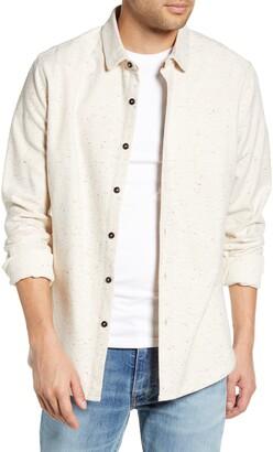 Jeremiah Jaxon Regular Fit Button-Up Neppy Flannel Shirt