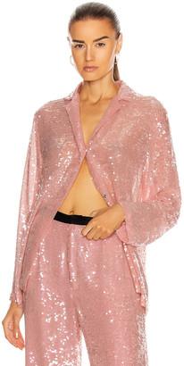MARKARIAN Zyphyrus Sequin Pajama Top in Pink | FWRD