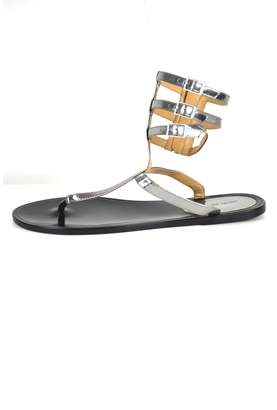 Rachel Zoe Silver Leather Sandals