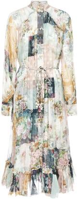 Zimmermann Wavelength Smock Midi Dress