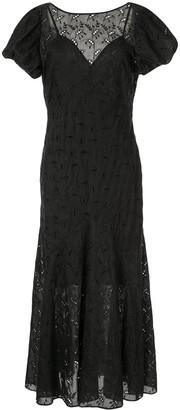 Elodie K Sir. panelled gown