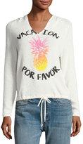 Vintage Havana Pineapple Vacation Light-Knit Hoodie